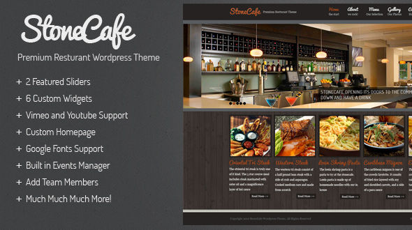 premium Wordpress Restaurant Theme